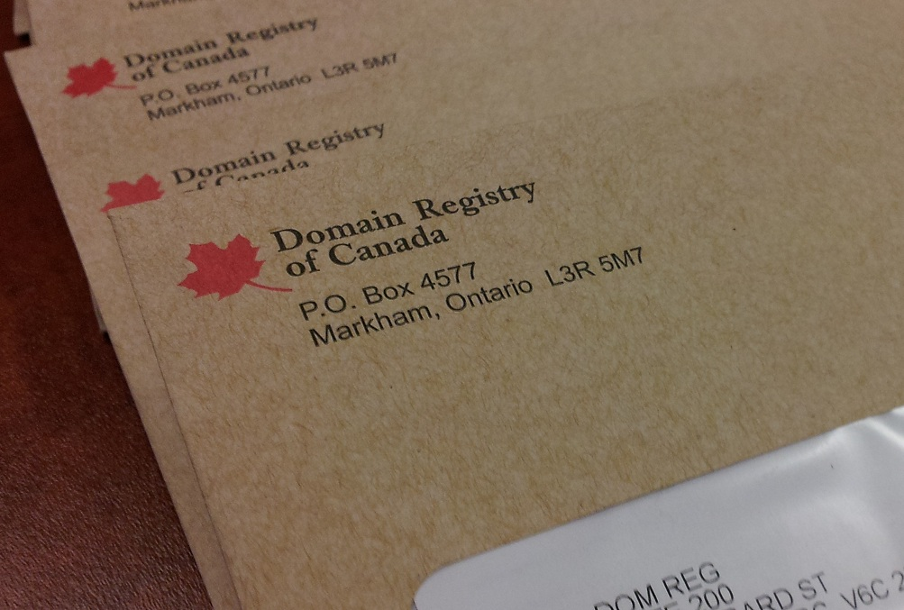 Domain Registry of Canada Scam Envelope